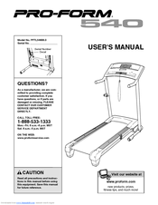 proform interactive trainer treadmill manual
