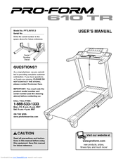 proform 610 tr treadmill manuals rh manualslib com proform manuals online proform manuals free