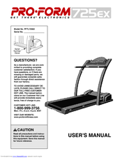 proform 725 ex manuals rh manualslib com proform 725tl treadmill manual proform 725tl owners manual