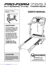 proform 765i interactive trainer treadmill manuals rh manualslib com proform pro 1000 manual proform pro 1000 manual