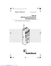 radio shack pro 76 owner s manual pdf download rh manualslib com Radio Shack Pro 651 Scanner Manual Radio Shack Handheld Police Scanners