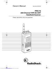 RADIO SHACK PRO-79 OWNER'S MANUAL Pdf Download