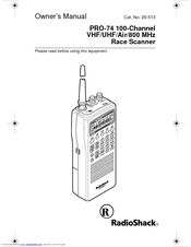 RADIO SHACK RACE SCANNER OWNER'S MANUAL Pdf Download