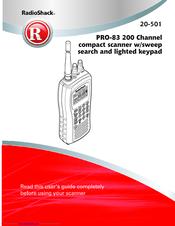 RADIO SHACK 20-501 USER MANUAL Pdf Download