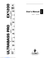 Behringer ex1200 stereo amplifier user manual. Download as pdf.