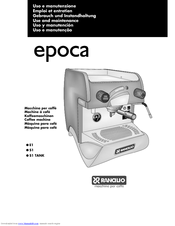 RANCILIO EPOCA E1 USE AND MAINTENANCE Pdf Download