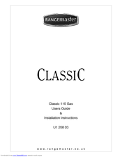 Rangemaster Classic 110 Users Manual & Installation