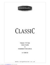 Rangemaster Elan 110 Electric Users Manual & Installation