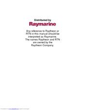Raymarine GPS navigation Navigation Manual