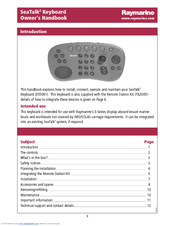 Raymarine E55061 Handbook