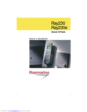Raymarine Ray230 Owner's Handbook Manual