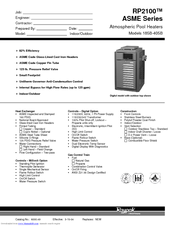 raypak rp asme rb manuals raypak rp2100 asme r185b specifications