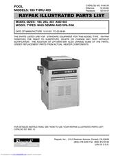 Raypak Gemini 263 Manuals