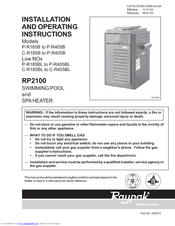 raypak rp2100 asme r185b manuals rh manualslib com Raypak 2100 Owner Manual Raypak 2100 Owner Manual