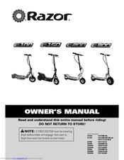 razor e325s manuals rh manualslib com razor e300 user manual razor e300 service manual