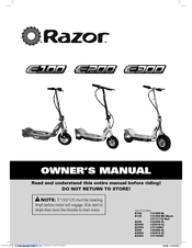 razor e325s manuals rh manualslib com razor e300 electric scooter owners manual Razor E100