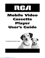 RCA Mobile Video Cassette Player User Manual