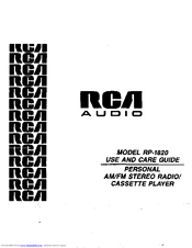 RCA RP-1820 Use And Care Manual