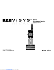 rca h5450re3 cordless extension handset manuals rh manualslib com RCA Surround Sound Manual Old RCA Manuals