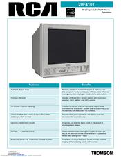 rca 20f410t 20 truflat tv manuals rh manualslib com RCA TV Problems RCA TV Manuals