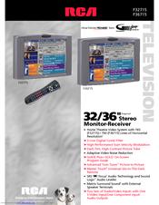 rca home theatre premiere f36715 brochure specs pdf download rh manualslib com RCA Home Theater System Manual RCA Camcorder Manuals