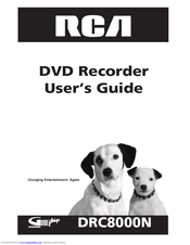 RCA DRC8000N - Progressive-Scan DVD Recorder/Player User Manual