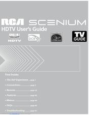 rca scenium hd50lpw175 manuals rh manualslib com RCA Scenium HDTV Manual RCA Scenium 50 HDTV