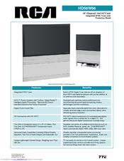 RCA HD56W66 Specification Sheet