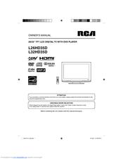 rca l32hd35d 32 720p lcd dvd combo manuals rh manualslib com RCA 32 Flat Screen Sears RCA 32