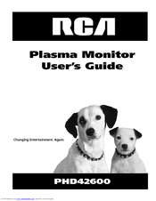 RCA PHD42600 User Manual