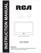 RCA RLC2609 Instruction Manual