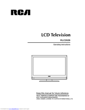 RCA RLC2626 Operating Instructions Manual