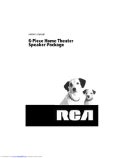 RCA 6-Piece Home Theater Speaker Package Owner's Manual