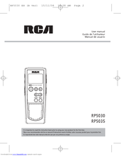 RCA RP5036 - Voice Recorder 256MB Built User Manual