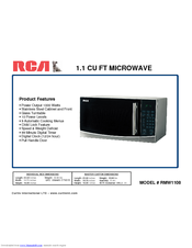 RCA RMW1108 Product Features