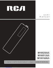 RCA Lyra M100512US User Manual