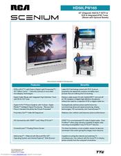 rca hd50lpw165 50 rear projection tv manuals rh manualslib com RCA Scenium DLP RCA Scenium TV Manual