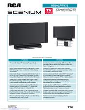 rca scenium hd50lpw175 manuals rh manualslib com RCA Scenium HDTV Manual RCA Scenium TV Manual