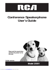 RCA 25001RE2 - Full-Duplex Conference Phone User Manual
