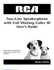 rca 25204re1 visys corded phone manuals rh manualslib com RCA DECT 6 0 Manual DECT 6 0 Manual