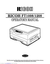 ricoh ft1208 manuals rh manualslib com manual de fotocopiadora ricoh ft 3813