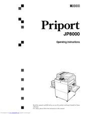 ricoh priport jp8000 operating instructions manual pdf download rh manualslib com ricoh priport jp 750 service manual ricoh priport jp 750 service manual