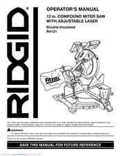 ridgid r4121 manuals rh manualslib com