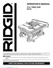 ridgid r4516 manuals rh manualslib com RIDGID Jobsite Table Saw Compact Job Site Table Saw