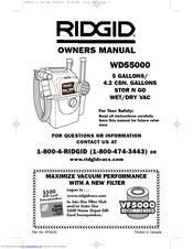 ridgid wet dry vac manual