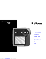 Rio Karma 20GB User's Manual