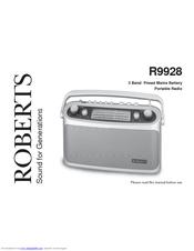 roberts classic 928 manuals rh manualslib com Roberts Digital Radio Roberts Radio UK