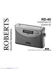 roberts gemini 45 rd 45 user manual pdf download rh manualslib com