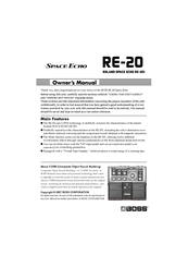 boss space echo re 20 manuals rh manualslib com bose owners manual for 2018 911 boss owner's manual