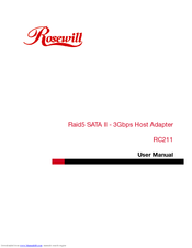 rosewill rc211 manuals rh manualslib com SATA Express Card 34 SATA 3 Cable with 2 Connections
